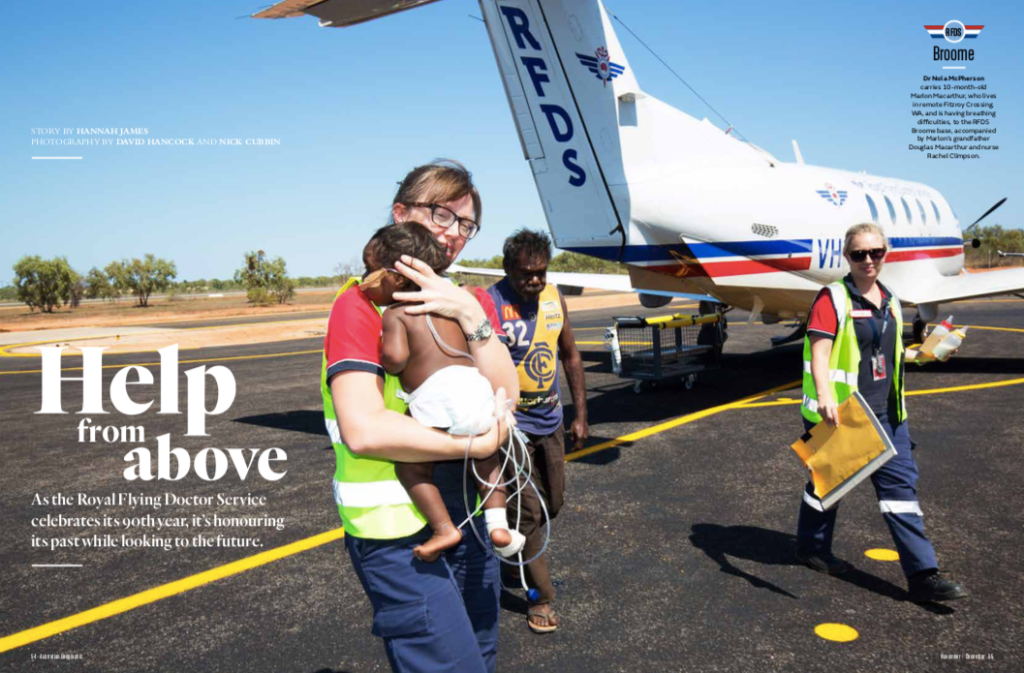 Australian Geographic Nov-Dec 2018 Flying Doctors article by journalist Hannah James